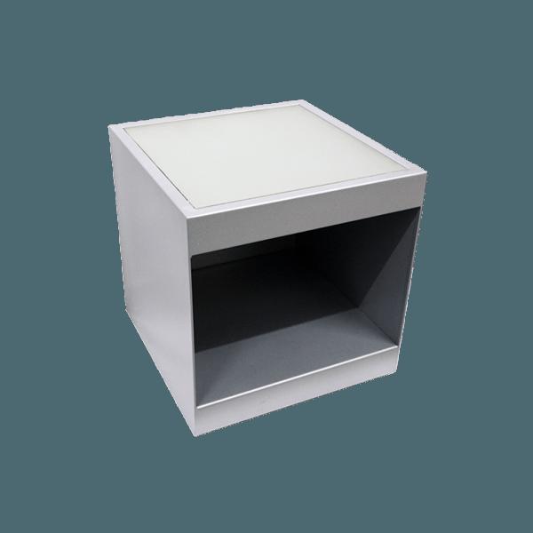 Spa Trolley / Portable Side Table w/ Glass Top & Shelf