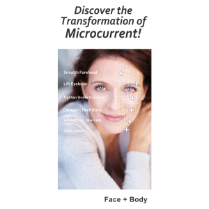 Brochure for Microcurrent (tri-fold brochure)