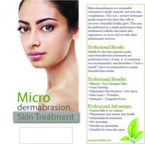 Brochure for Microdermabrasion (rack card)